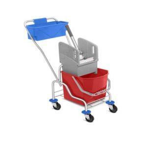 Chromium Single Bucket Mopping Trolley